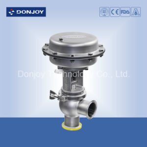 Ss 304 Pneumatic Globe Valve with Cleaning Ball Welding Ends pictures & photos