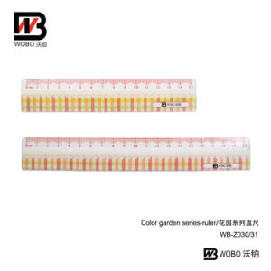 Office Supplies Plastic Cartoon Flat Ruler for Stationery Use