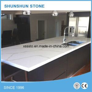 Artificial White Calacatta Quartz Stone Table Top for Kitchen Furniture pictures & photos