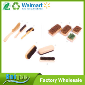 Wholesale Custom Durable Cleaning Wood Shoe Brush pictures & photos