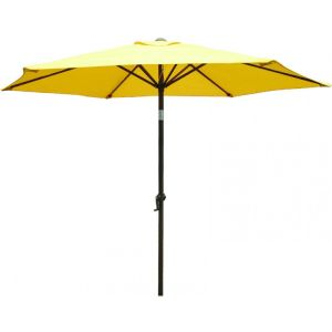 9 Foot Decorative Market Umbrella with Crank and Tilt (Yellow) pictures & photos