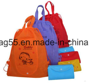 Approved Factory Supply Cheap Price Logo Print Kids Drawstring Bag pictures & photos