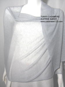 100% Cashmere Knit Sheer Shawl pictures & photos