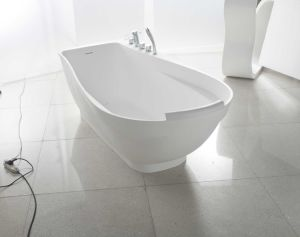 Simple Style Freestanding Solid Surface Acrylic Bathtub pictures & photos