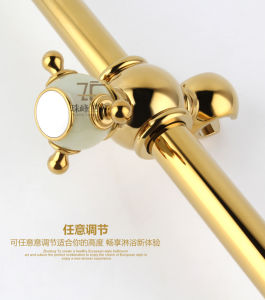 New Design Single Handle Zf-709-1 Jade Brass Shower Set pictures & photos