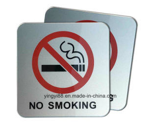 Wholesale No Smoking Sign/ Self Adhesive Acrylic Sign pictures & photos