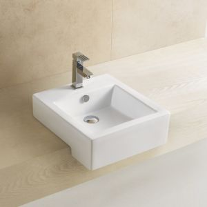 8007 Semi-Counter Bathroom Ceramic Wash Basin pictures & photos