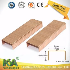 (3522) Copper Carton Close Staples for Packaging pictures & photos