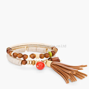 New Jewelry Fashion Infinity Leather Charm Bracelet Gold Lots Beads Style pictures & photos