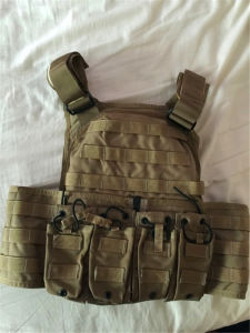 Kevlar Plates Full Protection Quick-Release Multi-Pockets Military Green Tactical Outdoor Travelling Quick-Release Vest pictures & photos