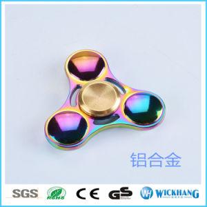 Color Rainbow Aluminum Metal Tri Hand Finger Spinner Fidget EDC Desk pictures & photos