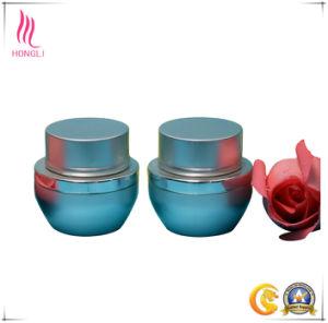 Unique Shape Matte Blue Make-up Jar pictures & photos