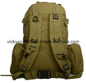 Double Shoulder Camouflage Hiking Mountaineering Camping Tactical Backpack Bag (CY3607) pictures & photos