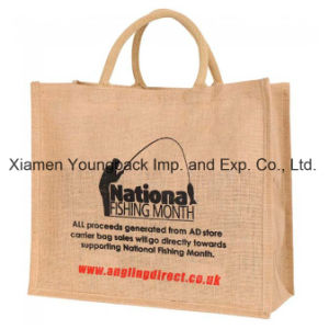 Promotional Custom Printed Reusable Natural Jute Burlap Wine Carrier Bags pictures & photos