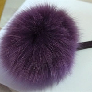 Fashion Style 12cm Fox Fur Pompom Fur Ball Keychain pictures & photos