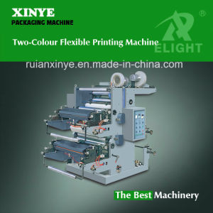 Two-Colour Polyethylene Flexo Printing Machine for Sale pictures & photos
