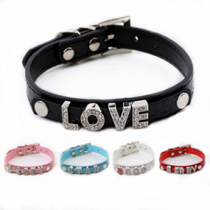 Personalized Quality Letters with Rhinestones Dog Pet Collars pictures & photos