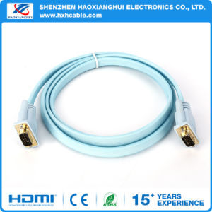 5FT Flat VGA Cable with Screws pictures & photos