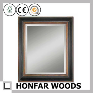 Rustic Wooden Mirror Frame for Hotel Royal Suite Guest Room
