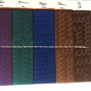Woven Design for Shoes Synthetic PU Leather for Making Shoes pictures & photos