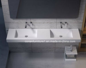 Wall Hung Corian Solid Surfacevanity Basin Bathroom Furniture pictures & photos