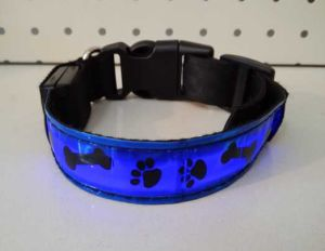 Pet Paw Print LED Collar pictures & photos