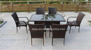 Restaurant Rattan Dining Table and Chair Set Also for Home (LL-RST004) pictures & photos