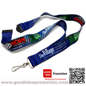 Custom Cheap Polyster Lanyard with Retractable Badge Holder Reel for ID Cards pictures & photos