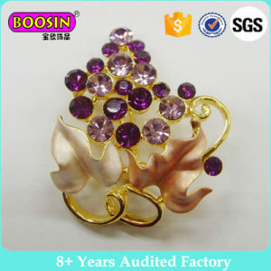 Purple Grape Crystal Rhinestone Brooch Pin Fashion Costume Brooch Jewelry Wholesale #51086 pictures & photos