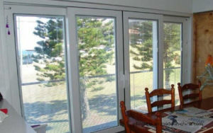 Jalousie Glass with Magnetic Remote Control Blinds Inside pictures & photos