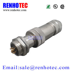 Renhotec Best Supply Wireable Metal Plug and Panel Mount Socket M12 5pin pictures & photos