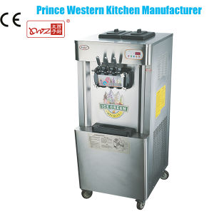 High Quality Factory Hot Sale Stainless Steel 22L 3 Flavors Soft Ice Cream Maker pictures & photos