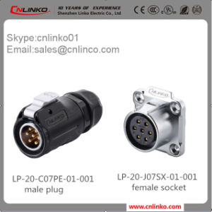 Factory Price 7pin LED Lighting Male Female Waterptoof Connector pictures & photos