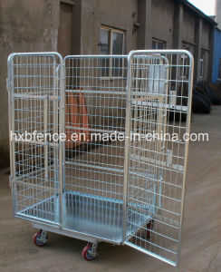 Lockable Metal Storage Cage, Steel Storage Cages with Wheels, Foldable Storage Cage pictures & photos