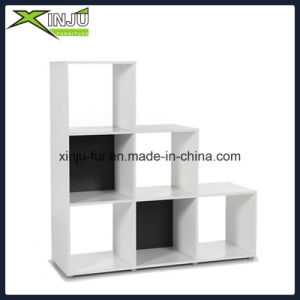 White/Black Functional Wooden Cube Shelf (6 compartments)
