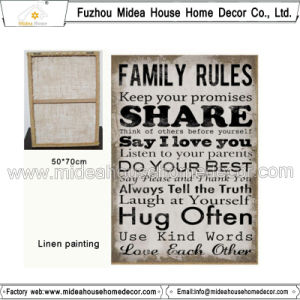 Family Rule Fabric Painting Patterns pictures & photos