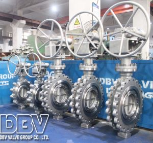 Industrial CF8 300lb Hand Wheel Operated Flange Butterfly Valve pictures & photos