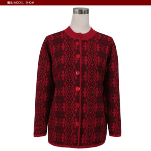 Gn1534 Yak and Wool Blended Knitted Sweater for Women pictures & photos