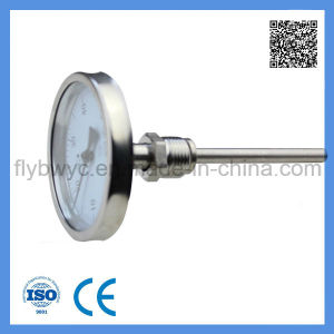 Industrial Usage Stainless Steel Dial 100mm Probe Axial Bimetal Thermometer 0-50c pictures & photos