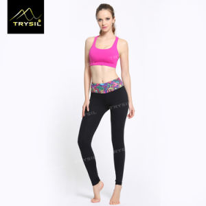 Lady Foot Legging with Waist Print Foot Pans for Yoga pictures & photos