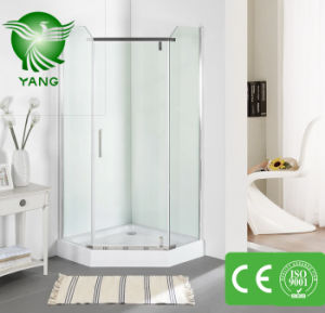 Shower Door Enclosure, 2016 Hot Sale Stripe Glass One Piece Pivot Shower Enclosure, Shower Screen pictures & photos