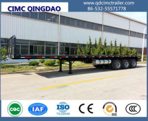 3 Axles Container Semi Trailer, 40FT Flatbed Container Truck Trailer pictures & photos