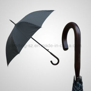 Regular Automatic Wooden Handle and Shaft Fashion Umbrella pictures & photos