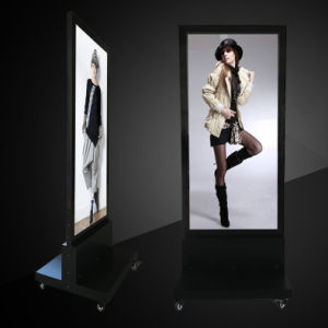 Double Sided Magnetic LED Light Box with Magnetic Lock and Free Stand pictures & photos