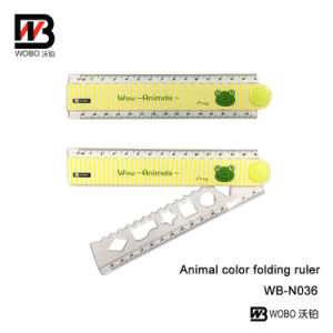 Lovely Animal Folding Plastic Ruler for Office and School Stationery