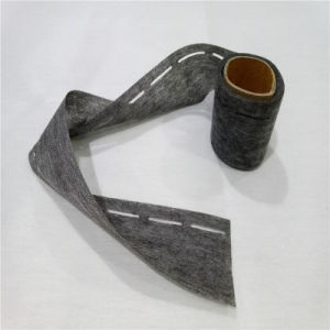 100% Polyester Fabric for Shirt Collar Waist Woven Interlining Slotted Tapes pictures & photos