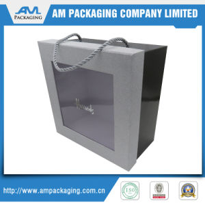 packaging Cardboard Custom Shipping Boxes with Plastic Clear Window Cookies Box pictures & photos