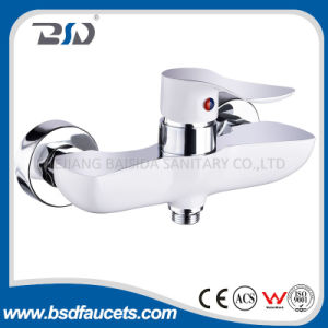 Chrome Single Lever White Printing Bathroom Shower Faucet pictures & photos