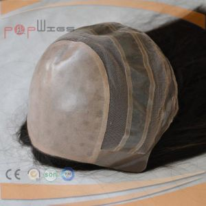 Fashion Human Hair Hand Tied Full Lace Silk Top Wig pictures & photos