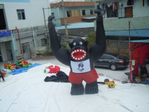 Customized New Design Giant Inflatable Gorilla for Decoration pictures & photos